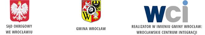 Logo: Sąd Okręgowy, Gmina Wrocław, Wrocławskie Centrum Integracji